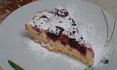 Ostružinový koláč s tvarohem