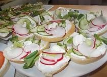Chlebíčky  se zeleninou