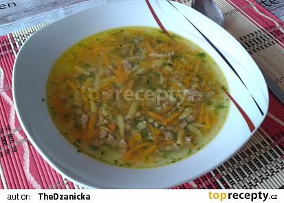 Rychlá mrkvová polévka s játrovým drobením
