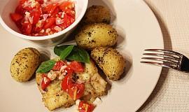 Treska s čerstvou rajčatovou salsou