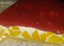 Tvarohový nepečený dort