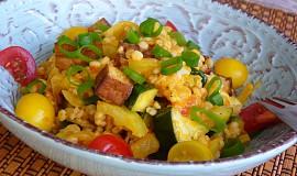 Čirok se zeleninou a tofu
