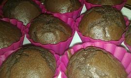 Double čokoládové muffiny