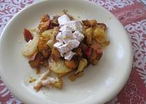 Pečená dýně s bramborami