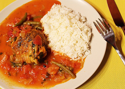 Dušené kuře po italsku