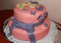 Motýlkový dort