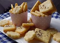 Slané sýrové sušenky