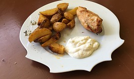 Plněná kuřecí prsa s americkými bramborami