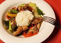 Restované kuře se zeleninou