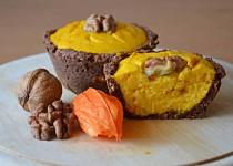 Zdravé tvarohovo-hokaidové muffiny v kakaovém košíčku