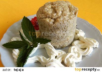 Banánový mugcake s kokosem