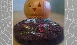 Halloweenský čokoládový dort