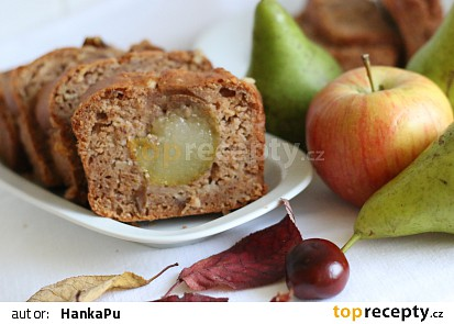 Jablečný chlebíček s hruškou