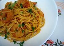 Krevetové špagety