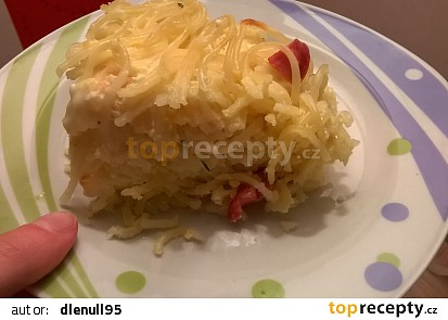 Pečené sýrové špagety