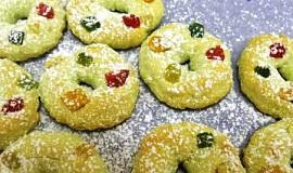 Pistáciové vánoční strojkové cukroví