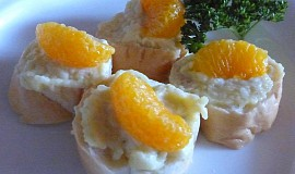 Sýrová pomazánka s mandarinkou