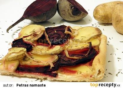 Koláč s řepou a bramborami