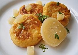 Placičky z bramborové kaše plněné tvarůžkem