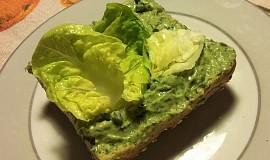 Zelená pomazánka s vejci na hniličku
