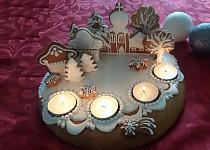 Adventní perníkové svícny