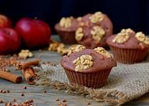 Pohankové muffiny s jablky, skořicí a vlašskými ořechy
