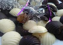 Domácí tmavá a světlá vánoční čokoláda