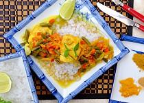 Treska na kari a kurkumě s konjakovou rýží