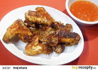 Pečená kuřecí křídla bez oleje