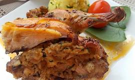 Pečené kuřátko s nádivkou  -  Adamova žebra