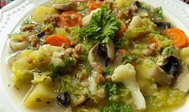 Zeleninová hustá polévka s pohankou
