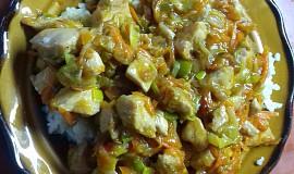 Kuřecí nudličky s ledovým salátem