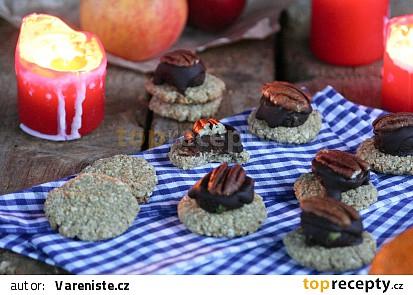 Ovesná kolečka s avokádovou čokoládou (last minute cukroví)