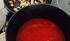 Rajčatová polévka s krůtím masem