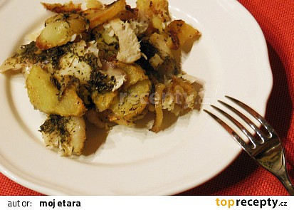 Treska zapečená v bramborové peřině
