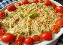 Gnocchi zapečené s žampiony a dvěma druhy sýrů