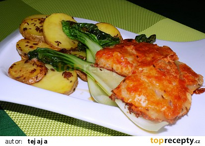 Rybí filé na čínskem zelí
