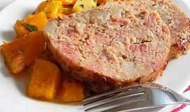 Sekaná s uzeným masem, slaninou a s pečenou máslovou dýní