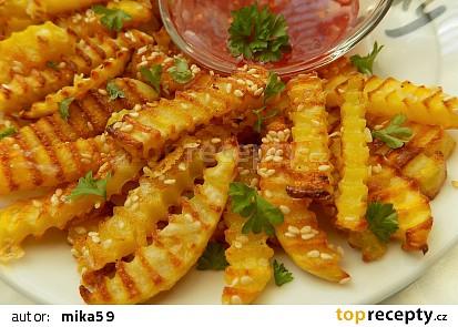 Sezamové vlnky s domácí sladkokyselou chilli omáčkou
