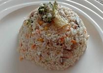 Smetanové rizoto s kuřecím masem zapečené v troubě