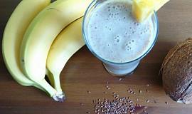Smoothie banán s lněným semínkem