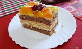 Tvarohový dort s ovocem od Aly