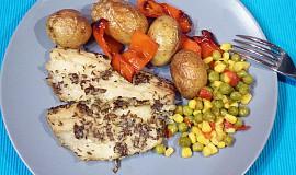 Aljašská treska pečená s bramborami