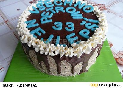 Krémový dort pro Petra
