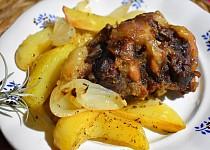 Pečené brambory s hovězí oháňkou