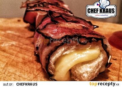 Roll up - grilovaný sendvič se sýrem a slaninou