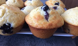 Tvarohové muffiny s borůvkami