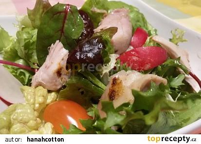 Zeleninový salát s kuřecími prsy