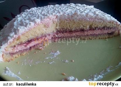 Jahodovo-tvarohový dortík