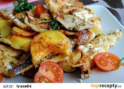 Mořská treska zapečená s bramborem a zeleninou (aneb 3 v 1)